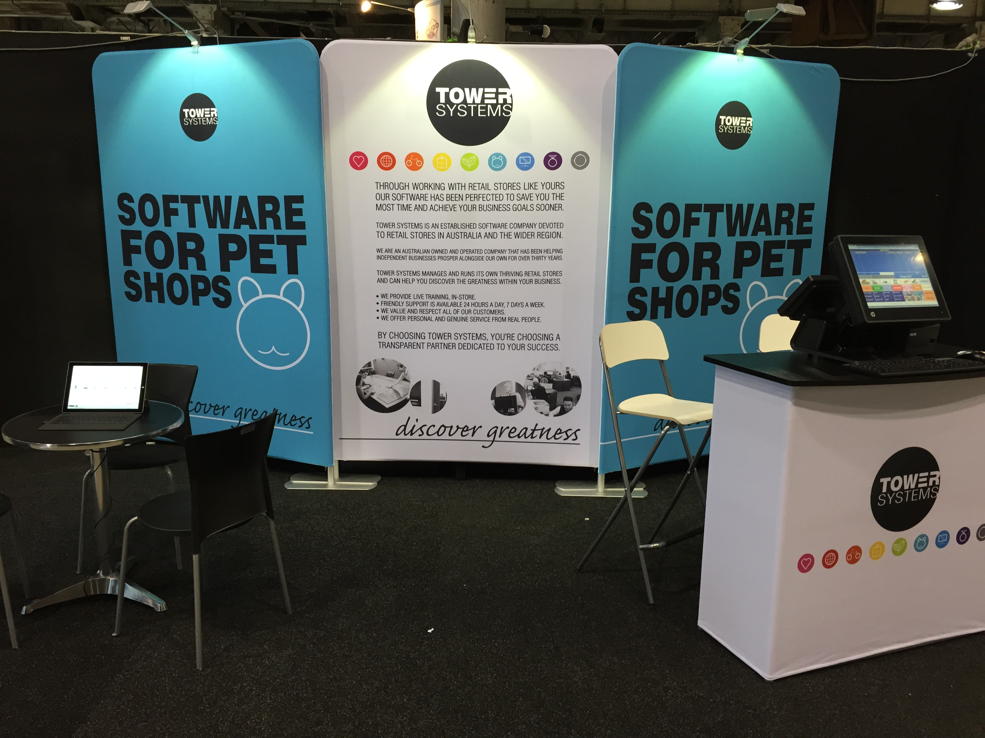 pet expo 2014 pet shop software stand ready to go tower blog a blog about smart pos software. Black Bedroom Furniture Sets. Home Design Ideas