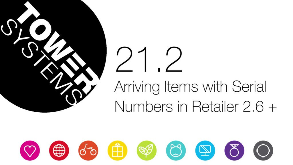 Arriving Items with Serial Numbers